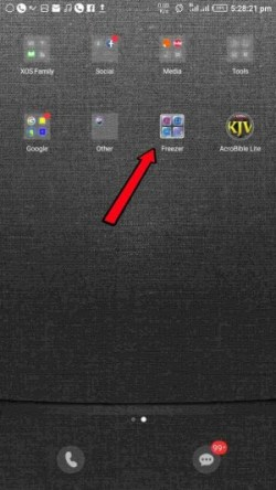 How to find and restore lost app freezer folder icon on Infinix phones.