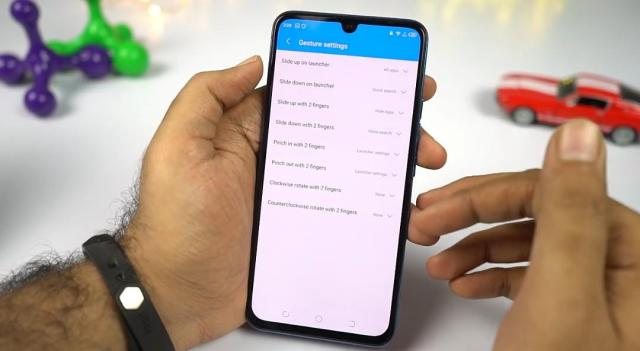 Phantom 9 home screen gestures