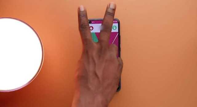 Infinix S5 call receive gesture