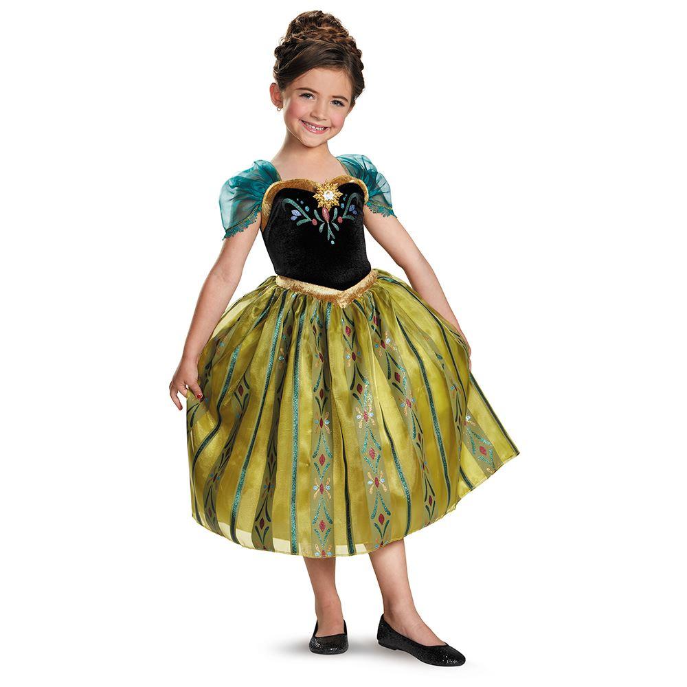 Kids Disney Frozen Anna Coronation Girls Costume  3499  The Costume Land