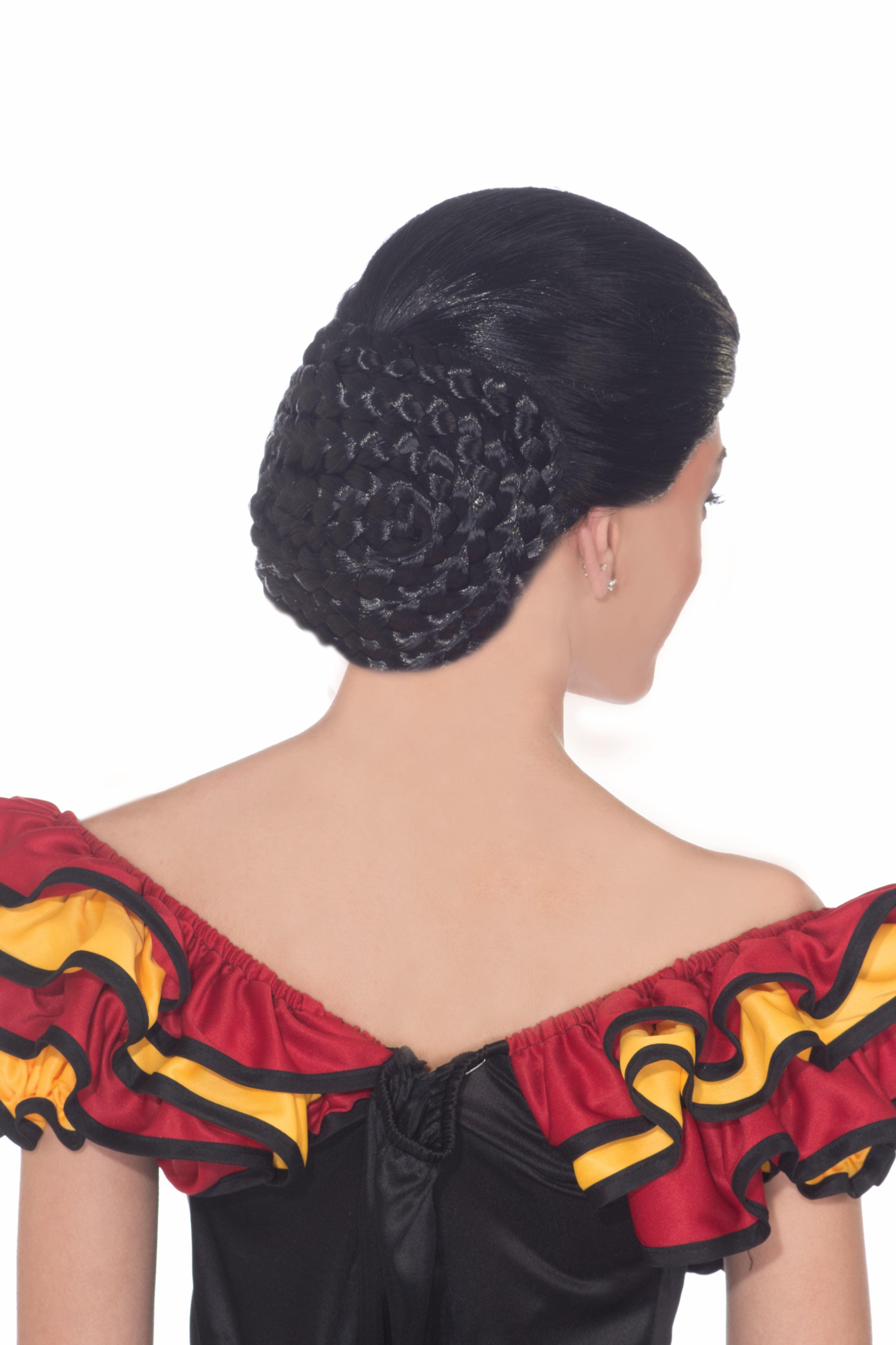Adult Spanish Dancer Black Wig 1899 The Costume Land