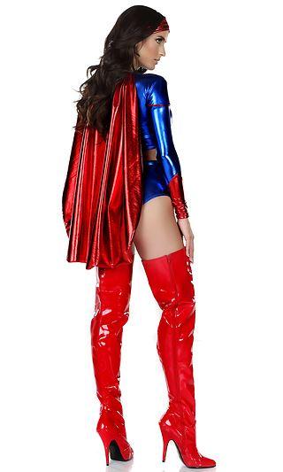 Adult Super Power Woman Super Hero Costume 10499 The Costume Land