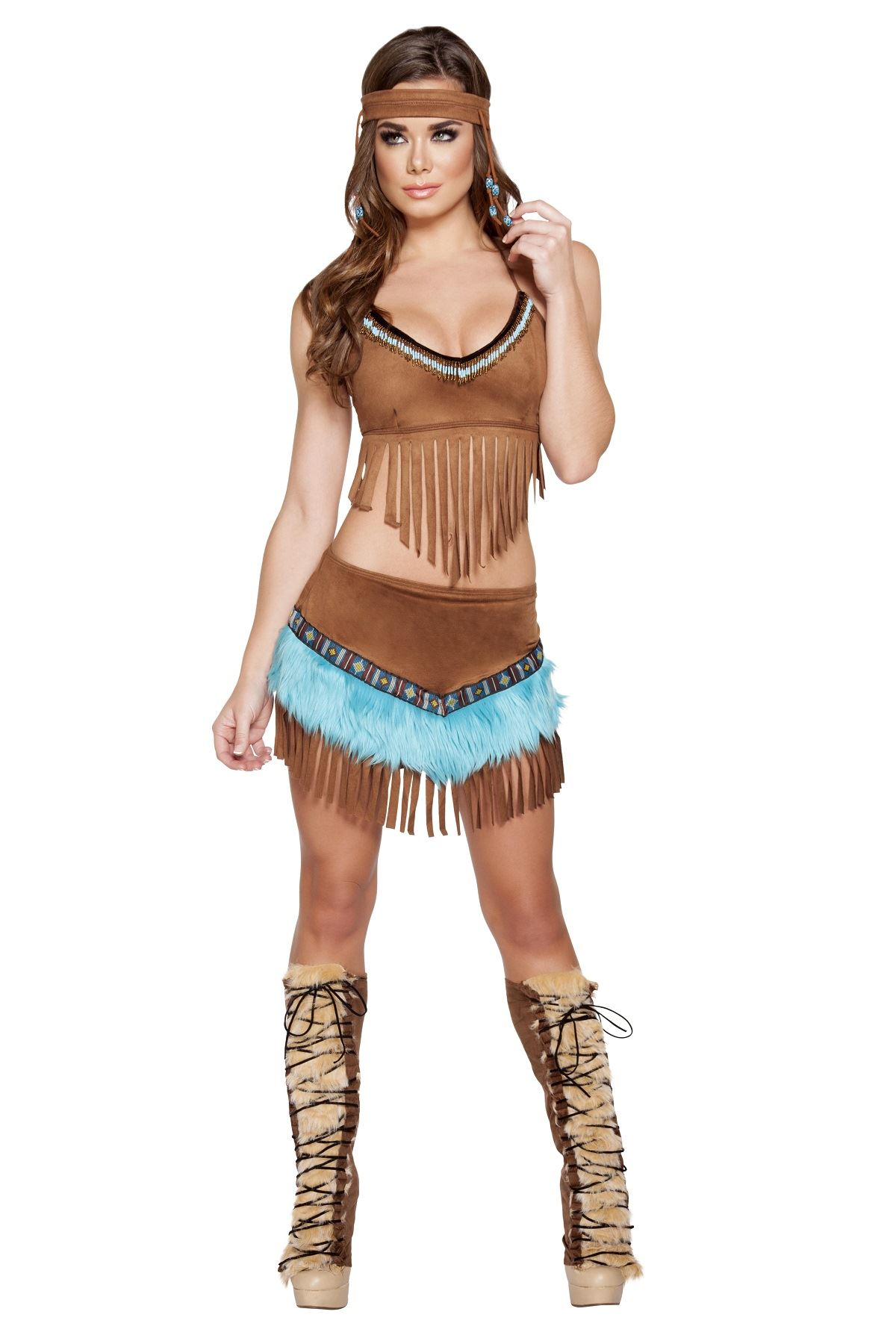 Adult Native American Beautiful Indian Babe Costume