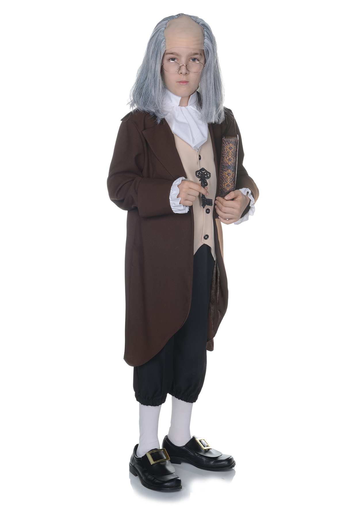 Kids Ben Franklin Boys Colonial Costume