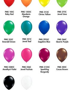 also pms balloon colour tones the costume party shop rh thecostumepartyshop