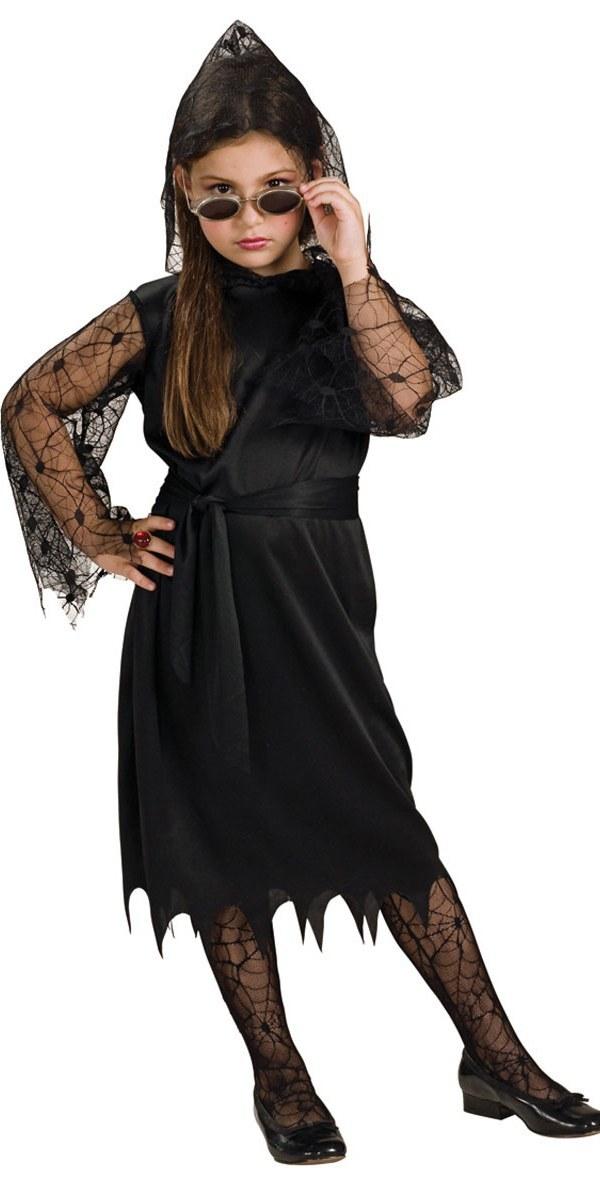 Kids Gothic Lace Vampiress Costume