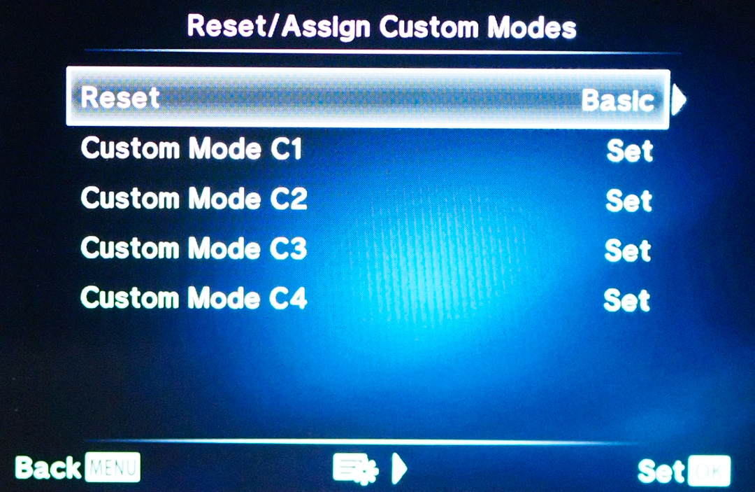 Some cameras even remember your settings for you and you can assign them to custom menus or buttons. Simply select the custom setting and the camera will be set up how you want.