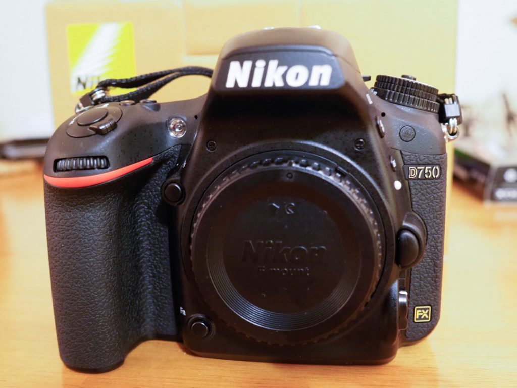Photo of the nikon d750 camera
