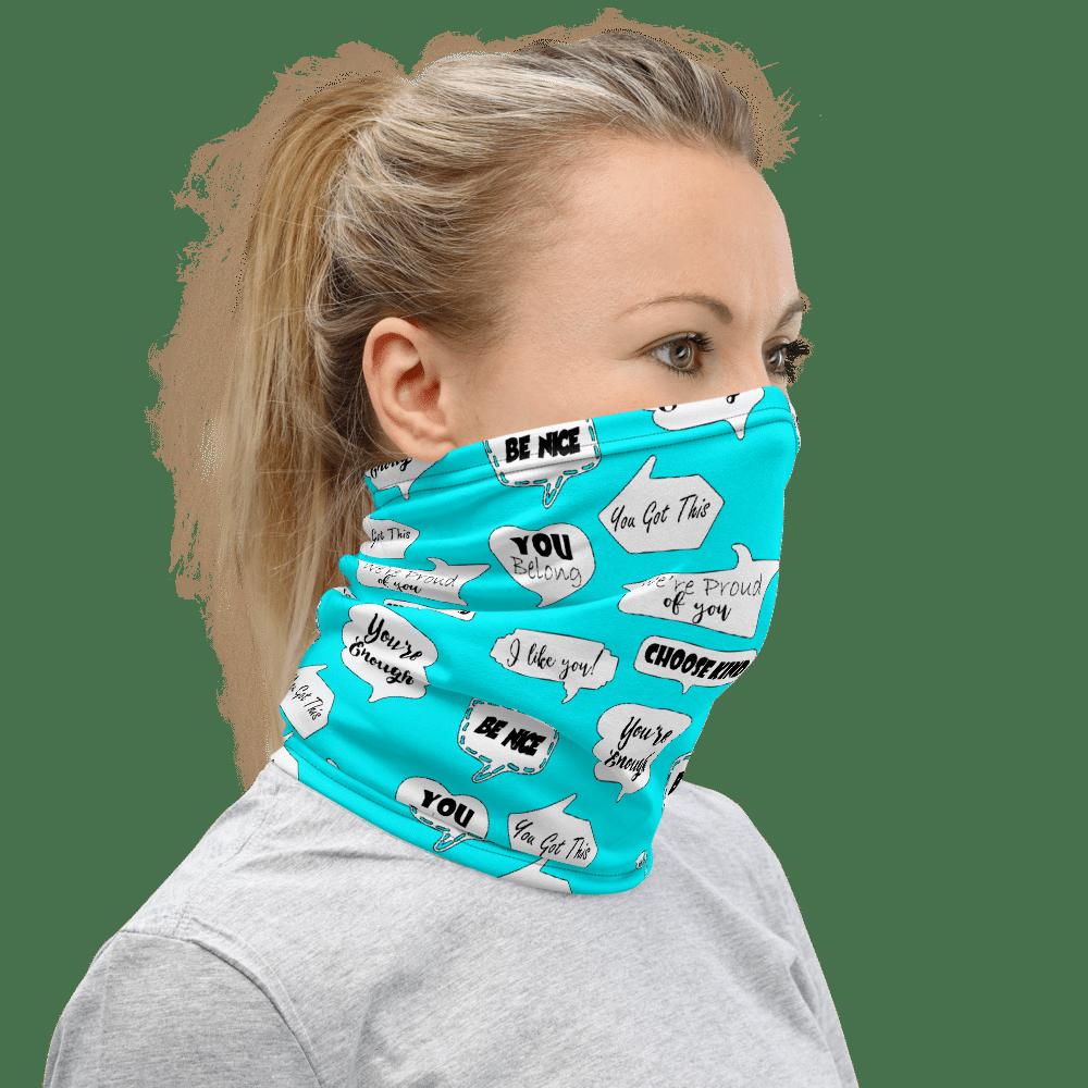 Positive Face Covering | School Counselors | Teachers | Psychologists | Face Mask | Paraeducators Neck Gaiter