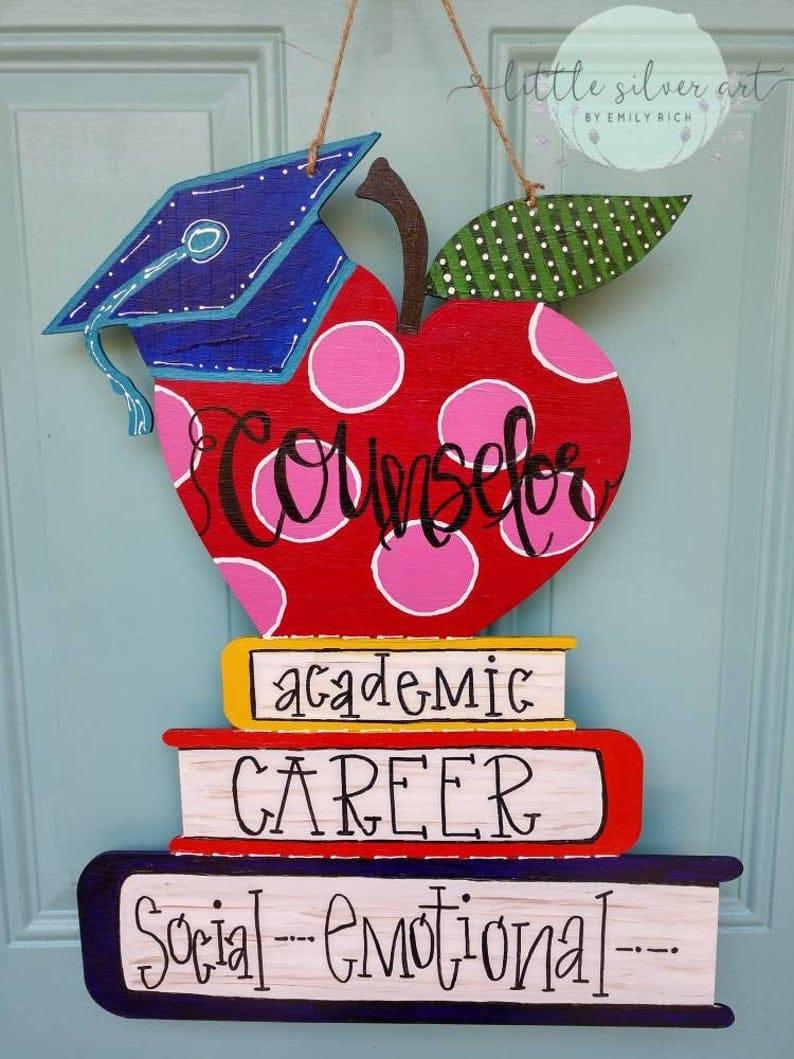 School Counselor/Teacher classroom door hanger