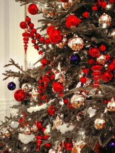 patriotic Christmas Tree decorating idea