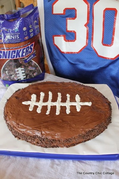 Snickers Football Cake With Snickers Cbias