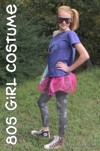 80s Girl Halloween Costume from the Dollar store