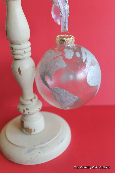 Glitter Globe Ornament Pottery Barn Knock Off The