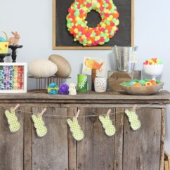 Beach Themed Kitchen Decor Black Distressed Cabinets Interior Designed: Neon Easter Mantel - The Country ...