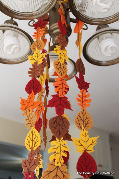 Fall Felt Leaf Garland  The Country Chic Cottage