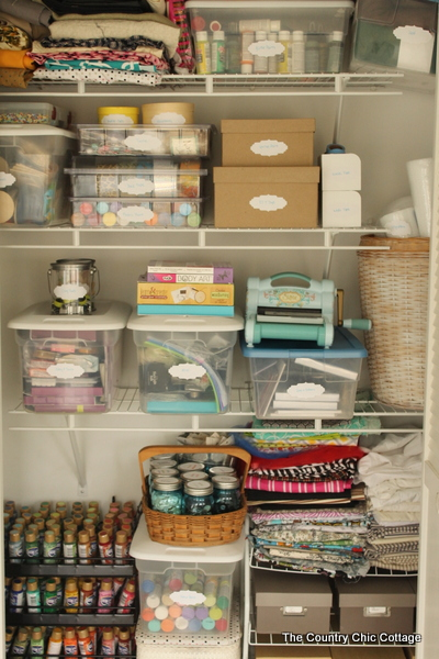 Organized Craft Closet The Country Chic Cottage