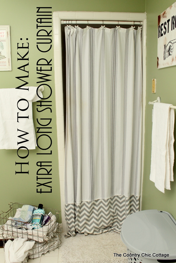 Make An Extra Long Shower Curtain #listerinedesign The Country