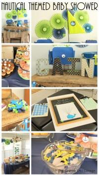 Nautical Themed Baby Shower - The Country Chic Cottage