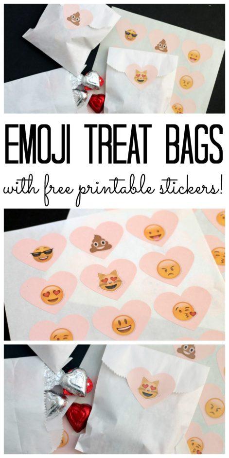 emoji treat bags collage