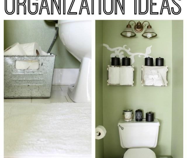 Bathroom Organizer Ideas Small Bathroom Organization Ideas The Country Chic Cottage