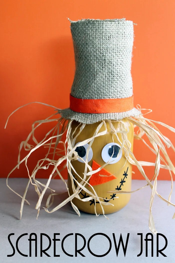 scarecrow jar fall craft