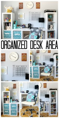 Organized Desk Area for a Teen Room - The Country Chic Cottage