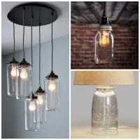 Canning Jar Light Fixture. Top Mason Jar Lighting Mason ...