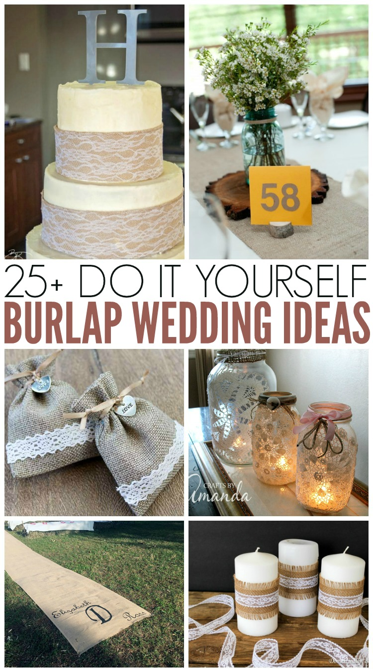Burlap Wedding Ideas  perfect for rustic weddings  The