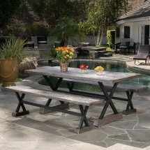 Rustic Outdoor Furniture Farmhouse Style Options
