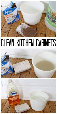 The Best Way to Clean Kitchen Cabinets - The Country Chic ...