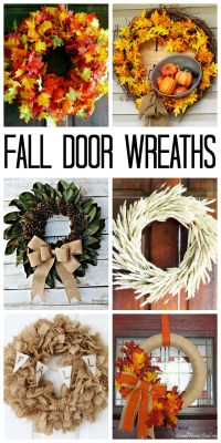 Fall Door Wreaths: Ideas for Your Home - The Country Chic ...