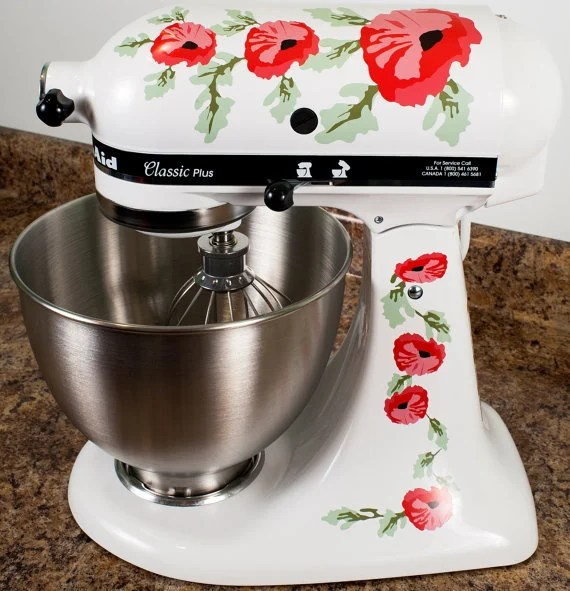 kitchen aide mixer how to buy cabinets kitchenaid decals: decorate your stand mixer! - the ...