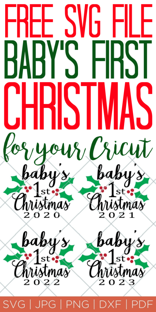 Download Baby's First Christmas Ornament Free SVG File - The ...