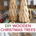 Wooden Christmas Tree To Make Yourself The Country Chic Cottage