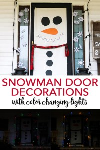 Snowman Door Decorations with Lights - The Country Chic ...