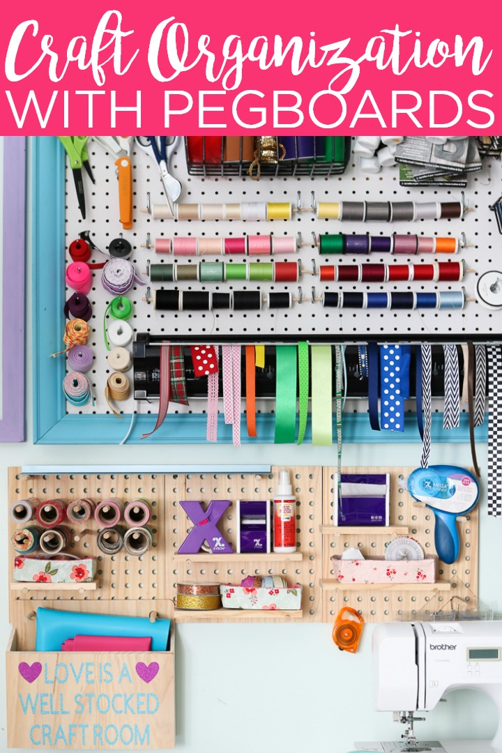 Craft Room Pegboard How To Organize Your Space The Country Chic Cottage