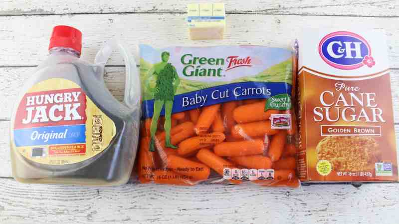 Maple Glazed Carrots, ingredients