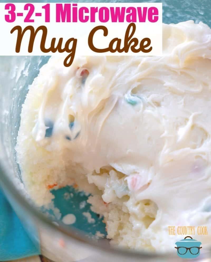 3 2 1 microwave mug cake the country cook
