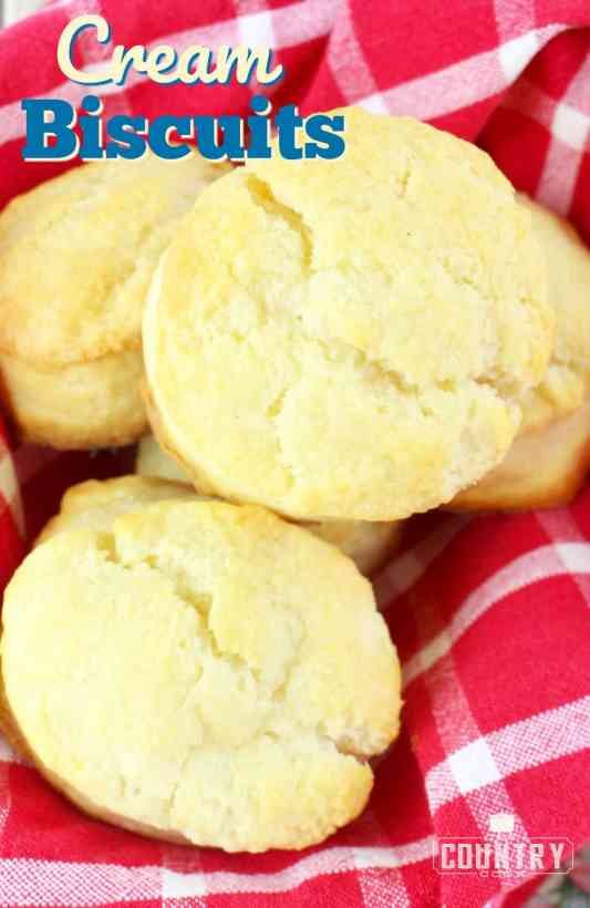 Cream Biscuits recipe from The Country Cook