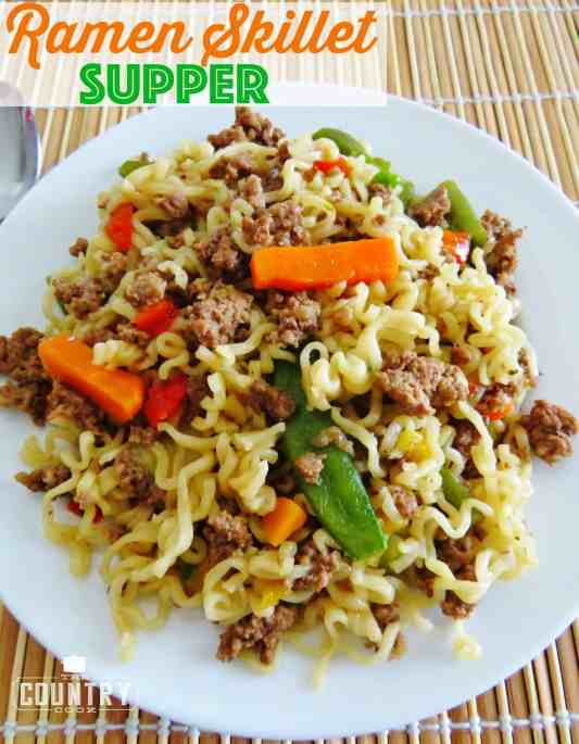 Ramen Skillet Supper recipe from The Country Cook