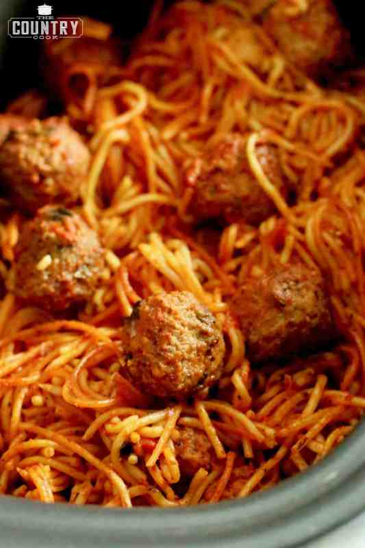 Slow Cooker Spaghetti and Meatballs (crock pot)