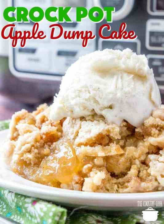 Crock Pot Apple Dump Cake recipe from The Country Cook