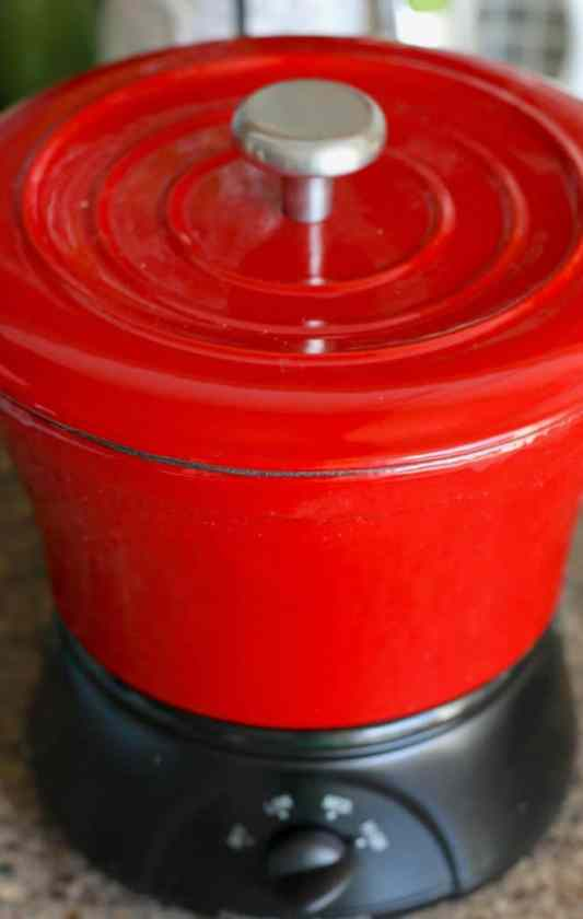 lid on mini cast iron crock pot