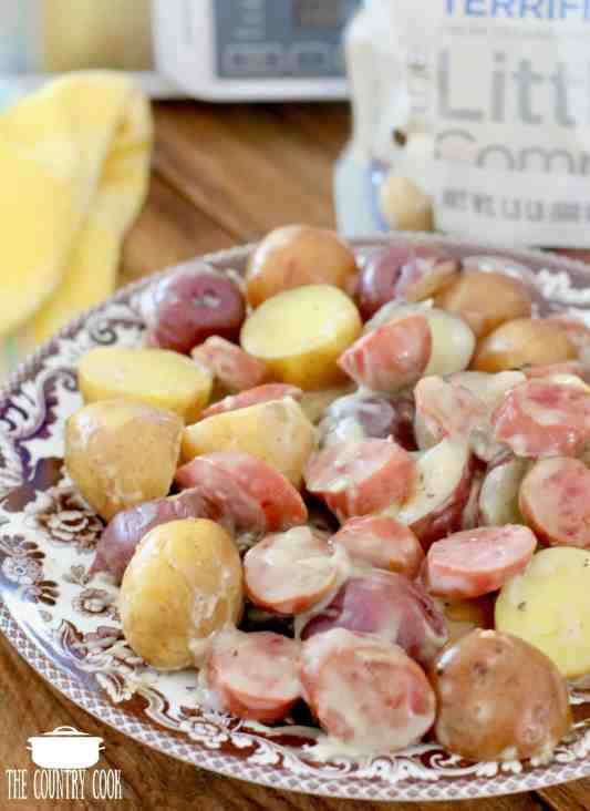 Slow Cooker Creamy Sausage Potatoes