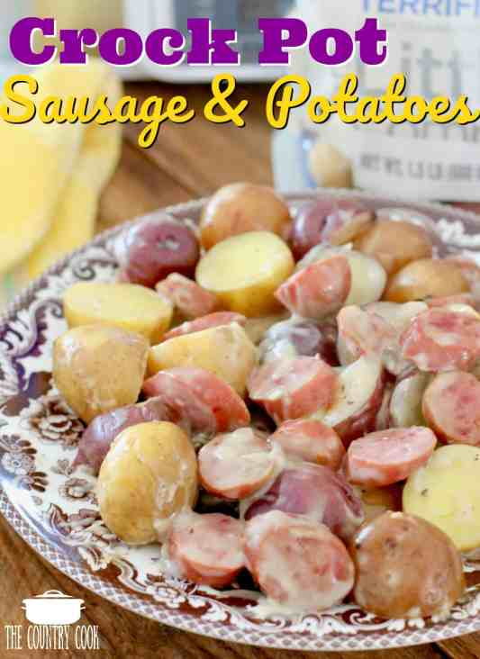 Crock Pot Creamy Sausage and Potatoes
