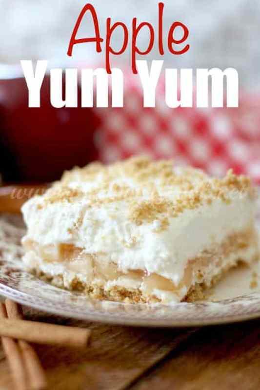 No Bake Apple Yum Yum layered dessert