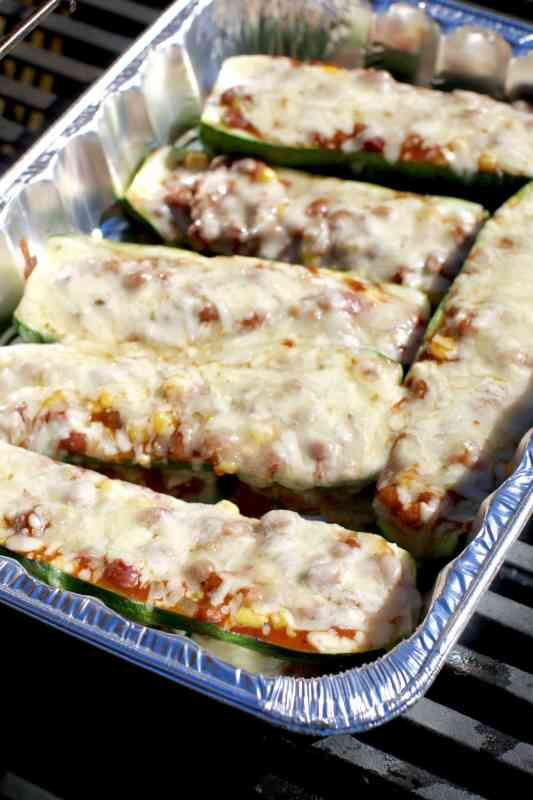 Stuffed Squash Bean Boats recipe at The Country Cook