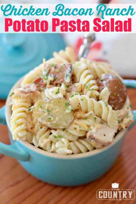 Chicken Bacon Ranch Potato Pasta Salad