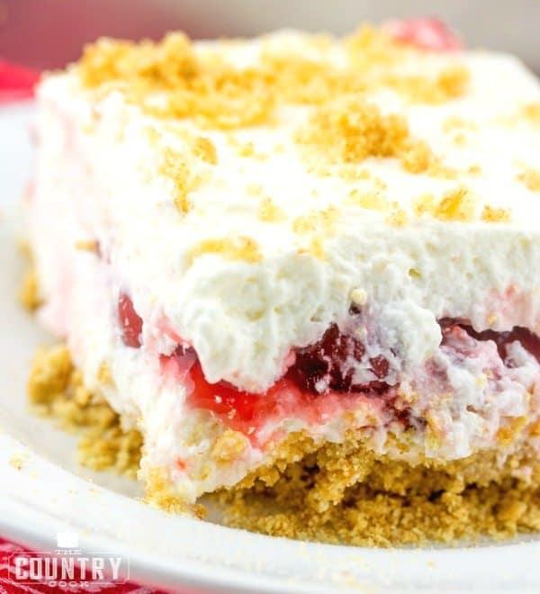 slice, No Bake Cherry Yum Yum
